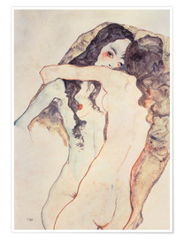 Premium-plakat  Two Women Embracing - Egon Schiele