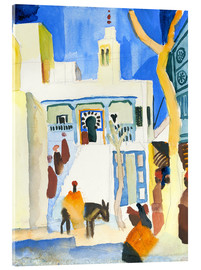 Akrylbillede  A Mosque - August Macke