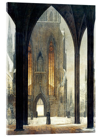 Akrylbillede  Cathedral in Winter - Ernst Ferdinand Oehme