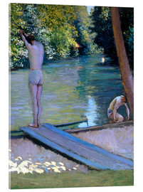 Akrylbillede  Bathers on the banks of the Yerres - Gustave Caillebotte