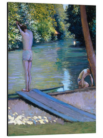 Print på aluminium  Bathers on the banks of the Yerres - Gustave Caillebotte