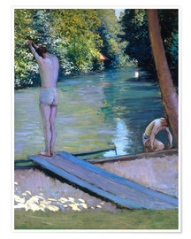 Premium-plakat Bathers on the banks of the Yerres