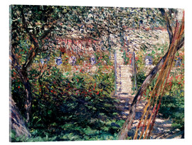 Akrylbillede  Garden at Vetheuil - Claude Monet