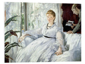 Print på skumplade  Madame Manet and her son Léon - Edouard Manet