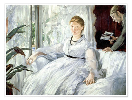 Premium-plakat  Madame Manet and her son Léon - Edouard Manet
