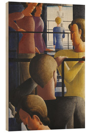 Print på træ  Scene on the banister - Oskar Schlemmer