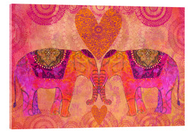 Akrylbillede  Elephants in Love - Andrea Haase