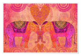 Premium-plakat Elephants in Love