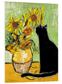 Print på skumplade  The cat of Van Gogh - JIEL