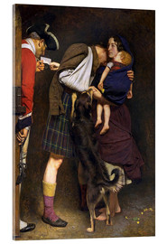 Akrylbillede  The Order of Release - Sir John Everett Millais
