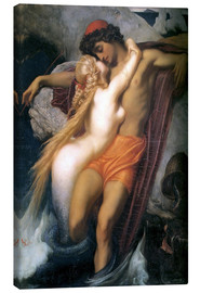 Lærredsbillede  The Fisherman and the Syren - Frederic Leighton