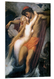 Print på skumplade  The Fisherman and the Syren - Frederic Leighton