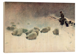 Print på træ  The Cheerless Winter's Day - Joseph Farquharson
