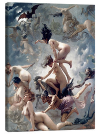 Lærredsbillede  Witches going to their Sabbath - Luis Ricardo Falero