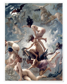 Premium-plakat  Witches going to their Sabbath - Luis Ricardo Falero