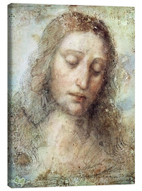 Lærredsbillede  head of christ - Leonardo da Vinci