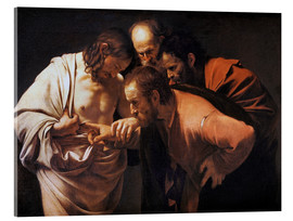 Akrylbillede  The Incredulity of Saint Thomas - Michelangelo Merisi (Caravaggio)