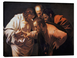Lærredsbillede  The Incredulity of Saint Thomas - Michelangelo Merisi (Caravaggio)