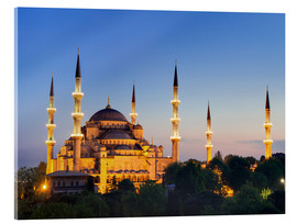 Akrylbillede  Blue Mosque at twilight - Circumnavigation