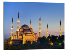 Print på aluminium  Blue Mosque at twilight - Circumnavigation