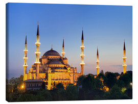Lærredsbillede  Blue Mosque at twilight - Circumnavigation