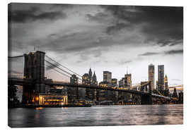 Lærredsbillede  Brooklyn Bridge - Hannes Cmarits