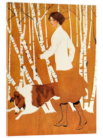 Akrylbillede  Birches - Clarence Coles Phillips