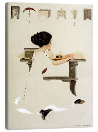 Lærredsbillede  Know all men by these presents - Clarence Coles Phillips