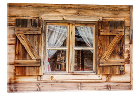 Akrylbillede  Window of alps cabin, South Tyrol (Italy) - Christian Müringer