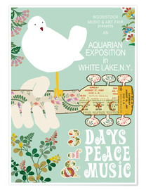 Premium-plakat  Woodstock collage - GreenNest