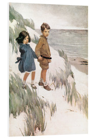 Print på skumplade  Baa Baa Black Sheep - Jessie Willcox Smith