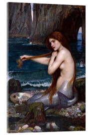 Akrylbillede  A mermaid - John William Waterhouse