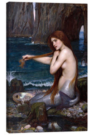 Lærredsbillede  A mermaid - John William Waterhouse