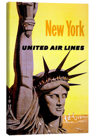 Lærredsbillede  New York United Air Lines - Travel Collection