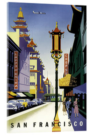 Akrylbillede  United Air Lines San Francisco - Travel Collection