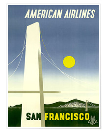 Premium-plakat  American Airlines San Francisco - Travel Collection
