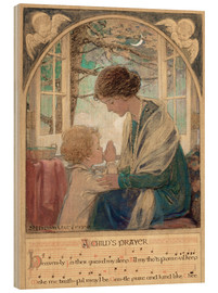 Print på træ  A Child's Prayer - Jessie Willcox Smith