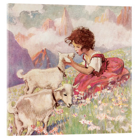 Akrylbillede  Heidi - Jessie Willcox Smith