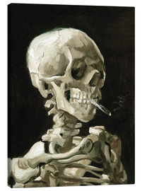 Lærredsbillede  Skull of a Skeleton with Burning Cigarette - Vincent van Gogh