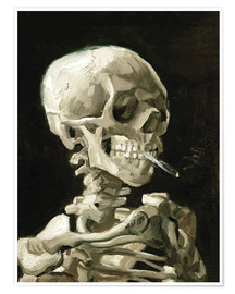 Premium-plakat  Skull of a Skeleton with Burning Cigarette - Vincent van Gogh