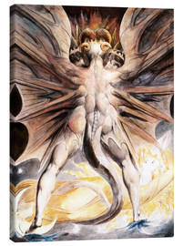 Lærredsbillede  The Great Red Dragon and the Woman Clothed with Sun - William Blake