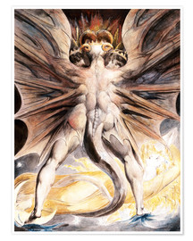 Premium-plakat  The Great Red Dragon and the Woman Clothed with Sun - William Blake