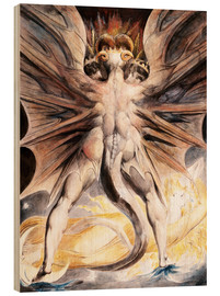 Print på træ  The Great Red Dragon and the Woman Clothed with Sun - William Blake