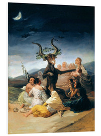Print på skumplade  Witches' Sabbath - Francisco José de Goya