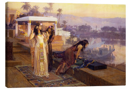 Lærredsbillede  Cleopatra on the terraces of philae - Frederick Arthur Bridgman