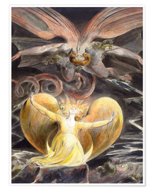 Premium-plakat  The Great Red Dragon and the Woman Clothed with the Sun - William Blake