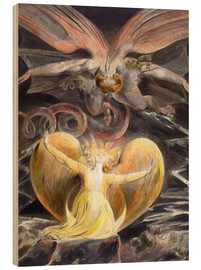 Print på træ  The Great Red Dragon and the Woman Clothed with the Sun - William Blake