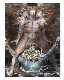 Premium-plakat  the great red dragon and the beast from the sea - William Blake