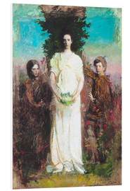 Print på skumplade  My Children (Mary, Gerald, and Gladys Thayer) - Abbott Thayer