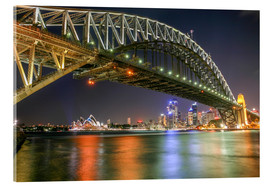 Akrylbillede  Sydney Harbour Bridge I - Thomas Hagenau